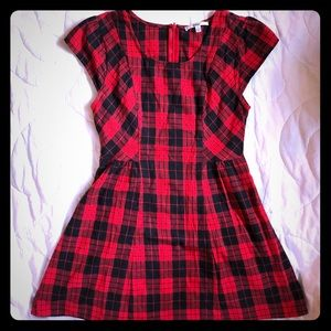 Adorable Papaya red plaid dress